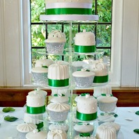 Emerald Green Cupcake/mini Cake Tower Wedding cake tower