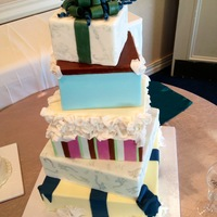 Stacked Present Wedding Cake