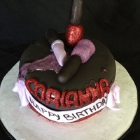 Makeup Cake Made this for my friends daughter who was turning 15.