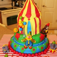 Circus Circus tent for 1st birthday