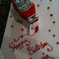 Ketchup My daughter has a real thing for ketchup...this is her 32nd birthday cake.