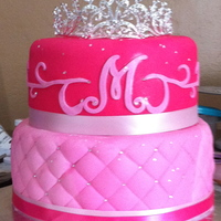 Princess Cake pink princess cake with bling.