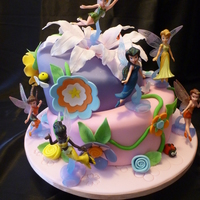 Tinkerbell And Fairies Topsy Turvy Cake