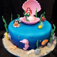 Ariel Mermaid Cake Ariel cake for Dorothy's 4th birthday! Besides Ariel the mermaid, everything is edible and handmade from icing. Also Dorothy likes...