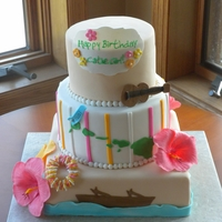 Hawaiin Themed Cake Hawaiin themed cake, inspired by Pink Cake Box