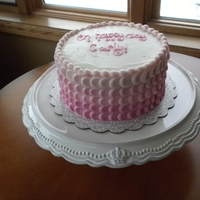 Buttercream Birthday pink buttercream cake