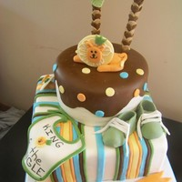 King Of The Jungle King of the Jungle cake for baby shower. All fondant and gumpaste details.