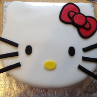 Hello Kitty Pina colada cake with pina colada white chocolate truffle filling. Covered in fondant, decorated with fondant. Thank you to all cc memebers...
