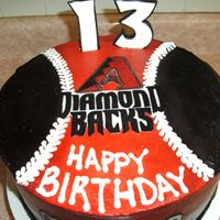 Diamondbacks Baseball Cake