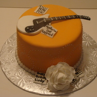 Guitar Guitar cake for a co worker