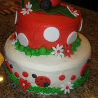 Ladybugs Ladybug cake for my niece's first birthday. I must admit, that I was highly inspired by Cyndi140's ladybug cake...great design...