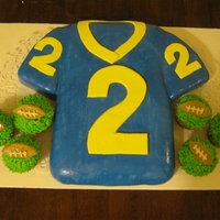 Football Jersey Cake And Football Cupcakes