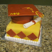 Asu Graduation Cake Made for my roommate who graduated from ASU, Class of 2011