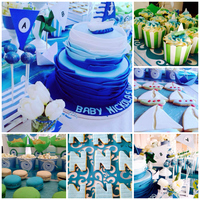 Boat Blue Cake Collage Boat Blue Cake Collage