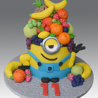 Fruit Head Minion Cake Fruit Head Minion Cake