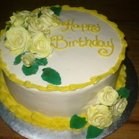 Yellow Gum Paste Roses   Yellow gum paste roses, for a birthday cake.. Thought it turned out really nice.. TFL