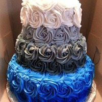 Ombre Cake (University Of Memphis Colors)