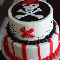 Pirate Birthday   A customer found this cake online and wanted it duplicated.