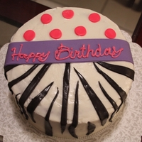 Zebra Polka Dot   A customer wanted a copy of one of my baby shower cakes.