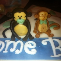 Monkey Themed Baby Shower Cake...it's A Boy!