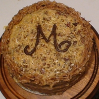 German Chocolate Birthday Cake Chocolate initial TFL!