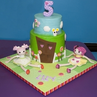 "Lalaloopsy Cake This is for my daughter's 5th Birthday. She loves Lalaloopsy so she picked out which girls she wanted. Cake is 8"" round (6""..."