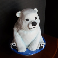 "Polar Bear Cake I made this dark chocolate cake for my daughter's birthday. I used 4 10"" round, 2 8"" rounds, and 1 6"" round before..."