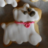 Westie Dog Cookie No Fail Sugar Cookie with Antonia 74's royal icing