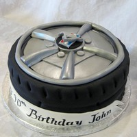 Ford Mustang Tire Cake