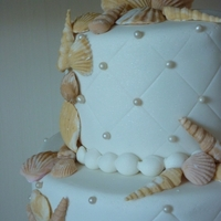 Sea Shells Wedding Cake for a wedding on the beach