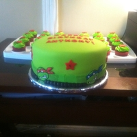 Tmnt Cake cake was for my nephew. I wanted to sculpture 3D image buti was so short on time.