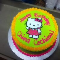 Hello Kitty Ice-cream cake