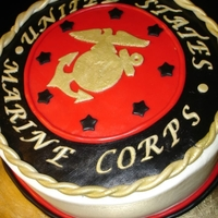Veterans Day - Marine Cake Veterans Day Marine Cake - I made a very scaled back version of a cake I saw online. It could have been on here CC. Either way, it was...