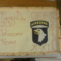Hhc 801St Bsb Family Day 2011 I did this cake for my Battalion. We've just come home from a year long deployment in Afghanistan, and we go on our 30 day leave...