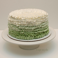 Ruffle Green Ombre