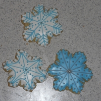 Snowflakes royal icing on cookies