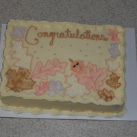 Cake With Buttercream Fall baby shower cake