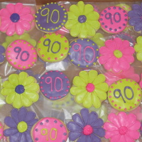 Flower Cookies For 90Th Bday Cookies with RI