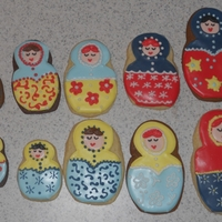 Russian Nesting Dolls cookies with RI