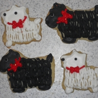 Scottie Cookies cookies with royal icing