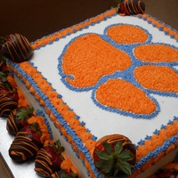 Clemson Tigers Graduation cake for a Clemson student. colors arent coming through great in the picture