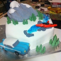 Grooms Cake - Mountain Climber, Kayaker, Pontiac Restoration This is a grooms cake that I made for an avid mountain climber and kayaker. He had also restored a 57' Pontiac Star chief. Came out...