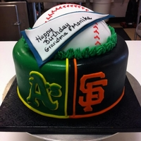 A's & Giants Split decorated for an A's Fan & a Giants Fan
