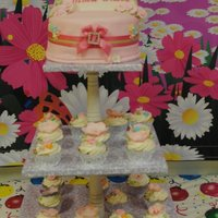Birthday Cupcake Tower So girlie and cute