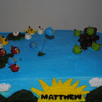Angry Bird Birthday Cake   Angry bird birthday cake. All brids hand made out of fondant.