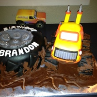 Monster Truck Tire Cake   Monster truck tire cake.