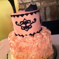 Pink Lady  I have to admit this cake is not my original design. I was given a picture and I duplicated it with some subtile changes. I'm still...