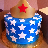 Wonder Woman Birthday Cake I made this simple cake for a friend that idolizes Wonder Women