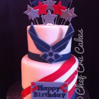 Air Force Birthday Salute  Fondant was used for decorations on this cake. I can't take all the credit for the design. The customer found a picture online and...