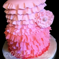 Ruffles Cake   Entire decor was done in fondant one ruffle at a time.